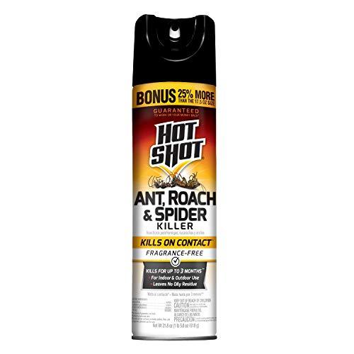 Hot Shot 36780, Roach & Spider Ant, Roach, Spider Killer, 21.8 oz, Unscented