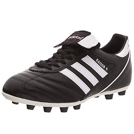 adidas Kaiser 5 Liga, Zapatillas de Fútbol Hombre, Negro Blackrunning White Footwear Red, 41 1/3 EU