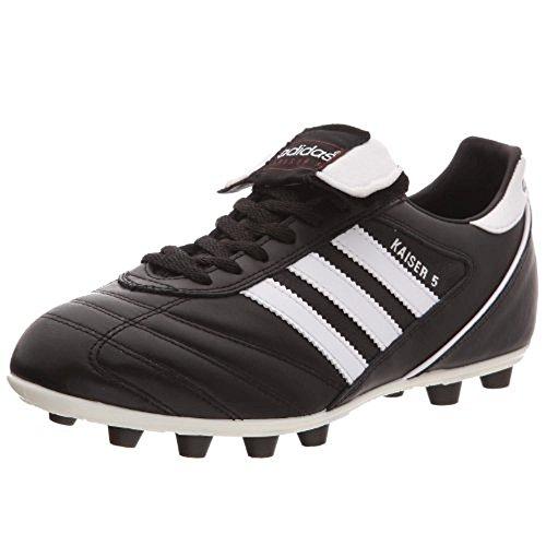 adidas Kaiser 5 Liga, Zapatillas de Fútbol Hombre, Negro Blackrunning White Footwear Red, 47 1/3 EU