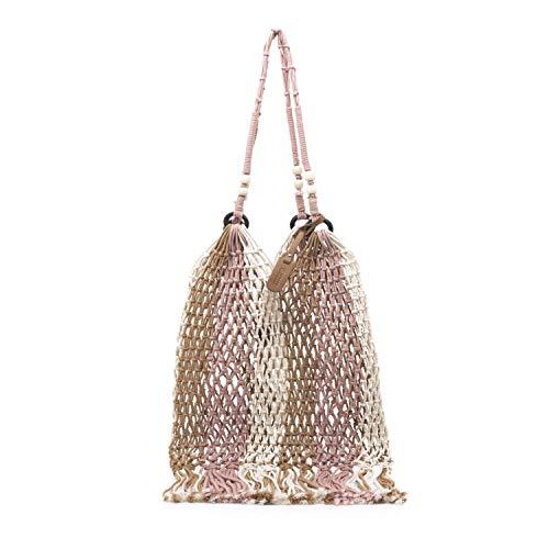 MTNG Ibiza, Shopper para Mujer, Rosa (Crochet Rosa Arena), 2x40x35 cm (W x H x L)