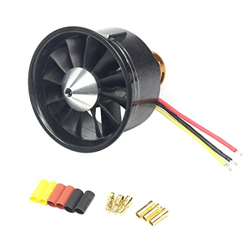 QX-Motor QF2822 64mm 2200KV Brushless Motor EDF Ducted Fan Set 12 Blades Electric 6S Updated Version (2200KV)