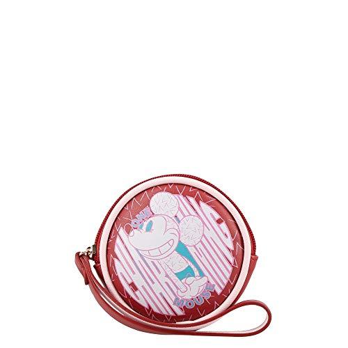 Cartera W Capsule Disney Mickey HBBROCCO21CW Coin purse para Dama, rojo