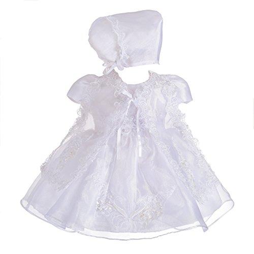 Lito Angels - Robe de baptême - Bébé (Fille) 0 à 24 Mois - Blanc - 6 Mois