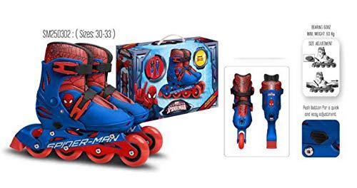 Kinder Jungen Inliner Inline Rolle Skates Skater Inlineskating Rollschuhe Disney Spiderman Marvel verstellbar Größe 30 31 32 33 Stamp SM250302