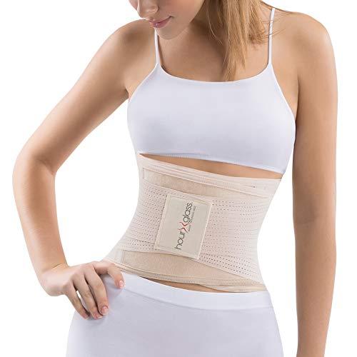 Slim Abs Waist Trainer Corset Body Shaper - Slimming Waist Trimmer Girdle for Women(Beige, M/L)