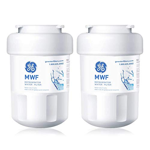 MWF Refrigerator Water Filter Replacement for GE MWF SmartWater, MWFP, MWFA, GWF, GWFA, GWF01, GWFA, FMG, FMG-1, Kenmore 9991, 469991 (2 Pack)