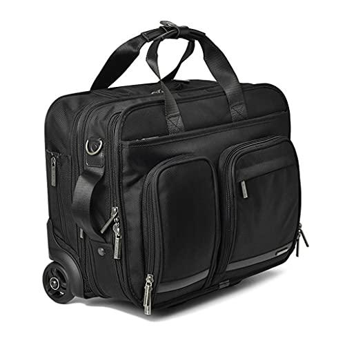 ZPDD Multifunzione Captain Rolling Luggage 16 Pollici Carry Ons Trolley Uomo Business Pilot Valigia Ruote Borsa per Laptop