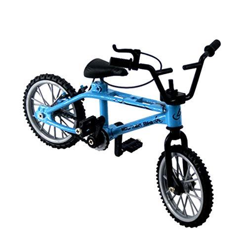 LYY Spaß Interaktiv Ausgezeichnete Qualität BMX Toys Legierungsfinger BMX Funktionelle Kinder Fahrrad Finger Bike BMX Fahrrad Set Spielzeug für Jungen Die Beste Wahl für Kinder (Color : Blue)