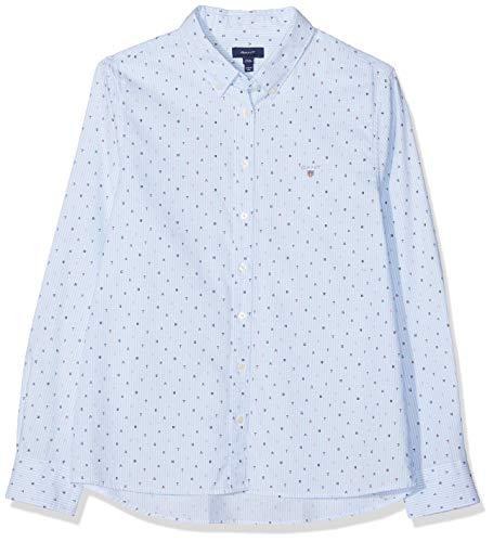 GANT Mädchen D1. Letters Striped Shirt Bluse, Blau (Capri Blue 468), (Herstellergröße: 176)