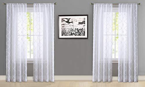 Laura Ashley Berwyn Fenstervorhang, 213,4 cm, Weiß