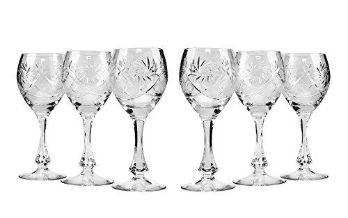 Copas Vino Cristal Vintage Marca Neman Crystal