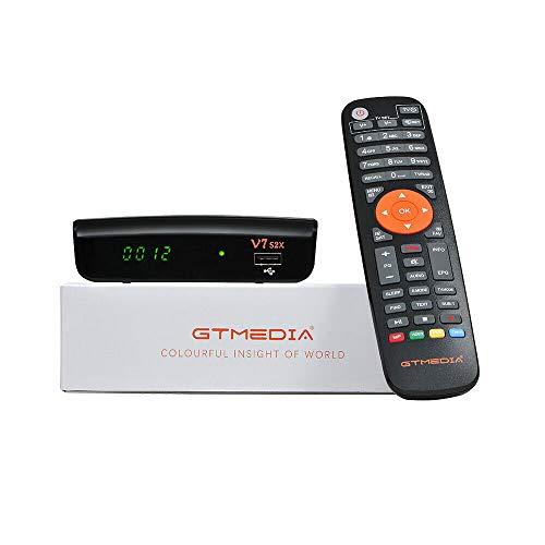 GTMedia V7S2X - Receptor satélite de televisión Full HD + antena WiFi USB, DVB-S/S2X, H.265 HEVC de 10 Bits, compatible con Youtube CCcam Biss Auto-Roll Multi-Stream / T2MI
