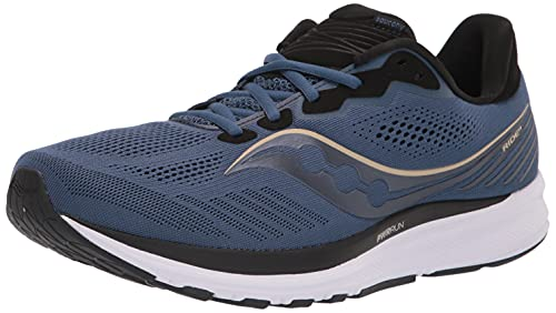 Saucony Men's Ride 14 Running Shoe, Storm/Frost, 11