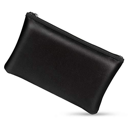 Liseng - Portamonete sicuro e ignifugo, con rivestimento in silicone non prurito, ignifugo e impermeabile, sicuro per raccoglitori, gioielli e passaporto