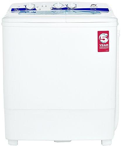 Godrej 6.2 kg Semi-Automatic Top Loading Washing Machine (GWS 6203 PPD, White and Blue)