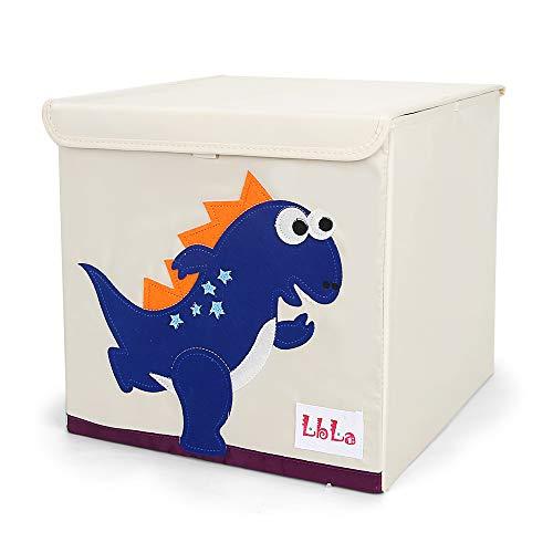 LBLA Kinder Aufbewahrungsbox Dinosaurier Aufbewahrungskiste Kinder Spielkiste