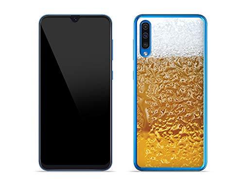 Hülle für Samsung Galaxy A50 - Hülle Fantastic Hülle - Bier mit Schaum Handyhülle Schutzhülle Etui Hülle Cover Tasche für Handy