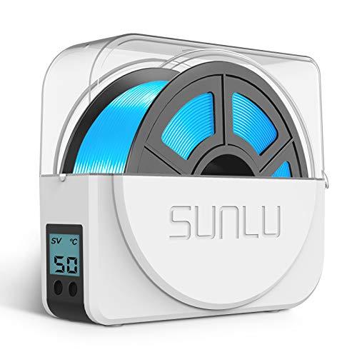 SUNLU - Caja secadora de filamentos para impresora 3D para impresión 3D mejorada, deshidratadora de filamentos, soporte de filamentos, caja de almacenamiento, color blanco