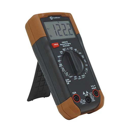 Southwire Tools & Equipment 10031S Manual Multimeter, 0-600VAC, +/(1.2 percent +10) Accuracy, ABS, black Brown