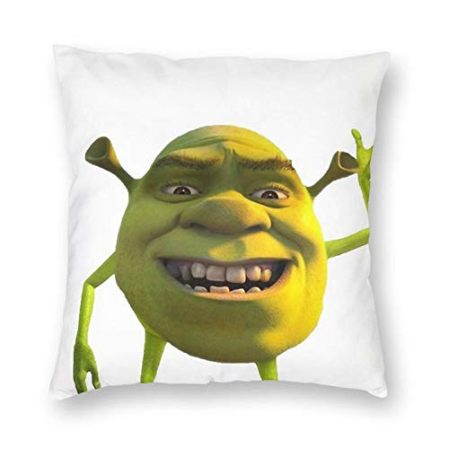 Izumo Shrek Wazowski Throw Pillow Cover Square Cozy Throw Pillowcases for Living Room Bed Couch Sofa Cushion Covers Home Decor 18'X18'