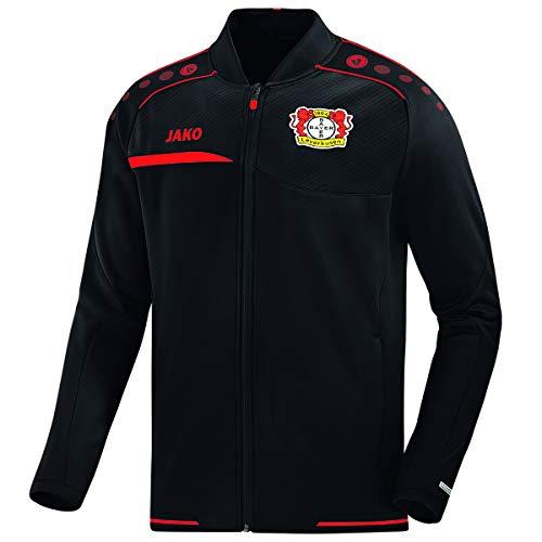JAKO Herren, (Saison 19/20) Bayer 04 Leverkusen Einlaufjacke, schwarz/Rot, M