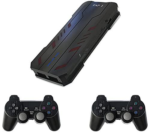 Anbernic Retro Console Giochi Stick 64GB con 5200 Giochi + 2 pz Gamepad Bluetooth, USB Wireless Console Game Stick for PS1 GBA, Console per videogiochi Mini Game Stick Uscita HDMI 4K