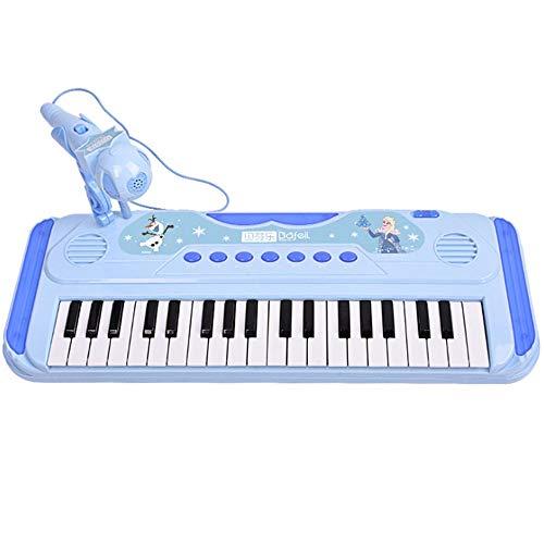 Haoli-hl ELSA, Tablette, Musical Spielzeug for Kinder, 37 Tasten Piano, 22 Demo Songs, Blau, Kinder-Bildungs-Musik Spielzeug for Jungen und Mädchen können aufzeichnen und die Musik Klavier Spielen