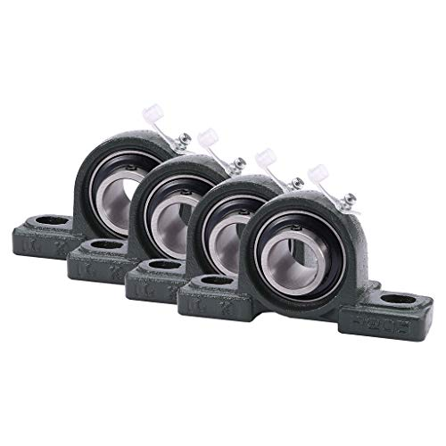 """Lanyun Pillow Block Mounted Bearings, Pillow Block Bearing UCP205-16 Pillow Block Bearing 1"""" Bore 2 Bolt Solid Base Used in Agriculture, Construction,Conveyors,Food and Beverage,Industrial etc (4PCS)"""