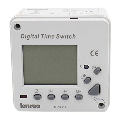 heschen Digital LCD Power Weekly Programmierbarer Elektronischer Timer Schalter Relais thc711a 220–240VAC LED-Anzeige CE