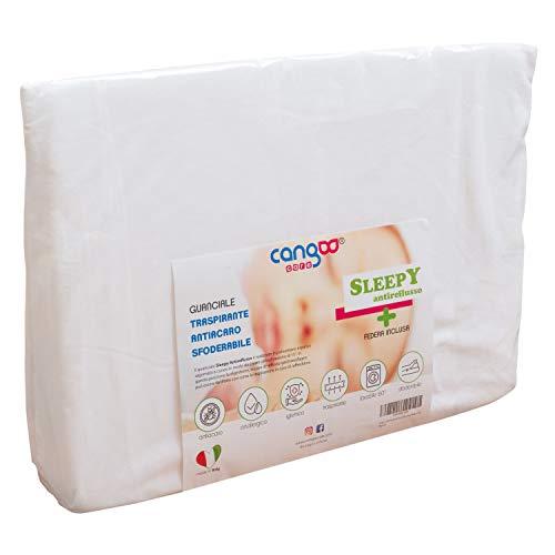Cangoo Care© Almohada antireflujo en cuña para cuna, desenfundable, antiácaros, transpirable, con...