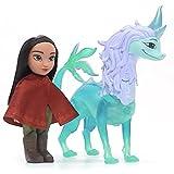 Disney Raya muñeca de 15 cm y Figura de Dragón con Funciones...