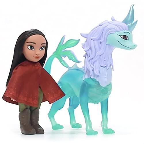 Disney Raya muñeca de 15 cm y Figura de Dragón con Funciones