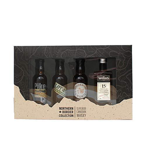 Northern Border Tasting Collection - 4 Minaturen Superior Canadian Whisky - Geschenkset (4 x 0,05l)