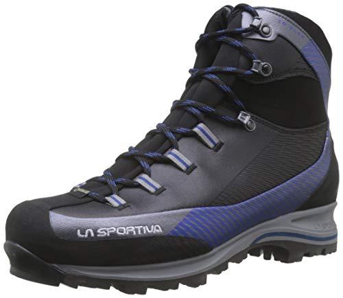 LA SPORTIVA Trango TRK Leather GTX Carbon/Dark Sea, Stivali da Escursionismo Alti Unisex-Adulto, Nero, 45 EU