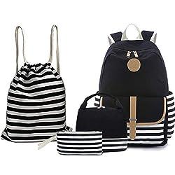 commercial BAGTOP School Backpack Set – Canvas Book Bag for Teenage Girls 15 Laptop Backpack + Lunch Bag +… backpack teenage girl