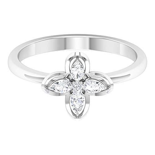 Rosec Jewels 14 quilates oro blanco round-brilliant-shape pear-shape H-I Diamond