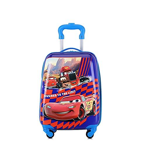 SHJKL Dibujos Animados Maleta niño, Muchacho Y Niña Viaje de Suitcase, Carro De Cáscara Dura Ligera, Pequeña Maleta con 4 Ruedas, 18 Pulgadas,Cartoon q