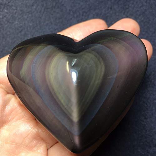 102 G natural tallado en forma de corazón de obsidiana pieza de color claro curativo