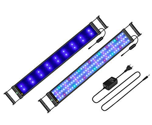 BELLALICHT Rampe LED pour Aquarium Éclairage Aquarium LED 22W 3 Mode Luminosité Ajustable RGBW Lumieres Lampe LED pour 70-90CM Aquarium avec Timing - 7500K