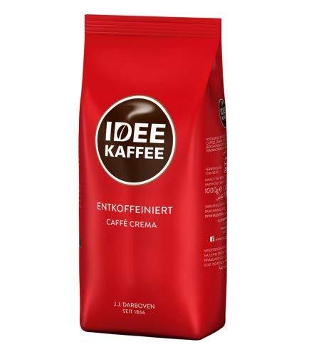 IDEE KAFFEE Entkoffeiniert Cafe Crema 1000 g Bohnen