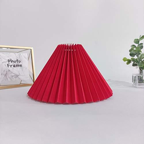 E27 Stoff Lampenschirm 2021 Neue DIY Falten Plissee Lampenschirm Für Nachttischlampe Wandleuchten Tischlampen Kronleuchter Stehleuchte,Rot