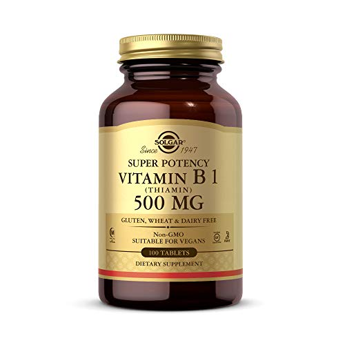 Solgar Vitamina B1 (Tiamina) 500 mg Comprimidos - Envase de 100