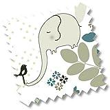 5418 - millemarille Ersatzbezug Wickelauflage 'elegant elephant' I 50x70cm I Ökotex I Elefant