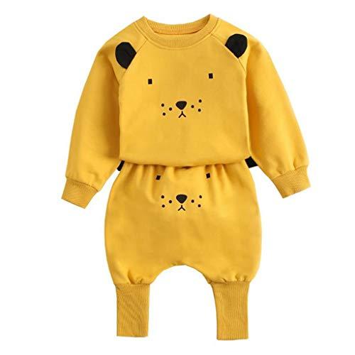 CCIIO Primavera otoño bebé deportes sudadera conjunto simple lindo animal impresión ropa conjunto