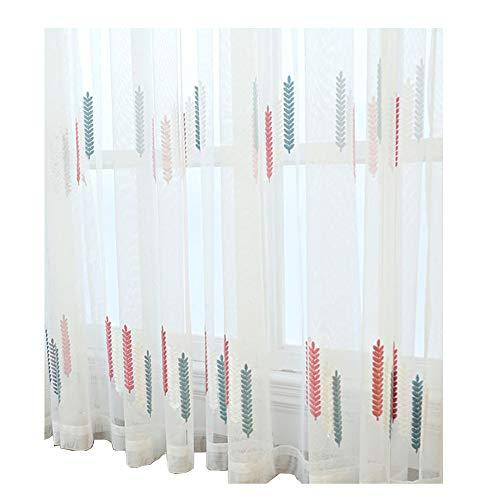 PHBSF Weizenmuster Voile Vorhänge Stoff Für Schlafzimmer Privatsphäre Wohnzimmer Fenster Behandlung Vorhang Voile Material (2,8 M Breite)(Color:Rosa,Size:2.8x6m)