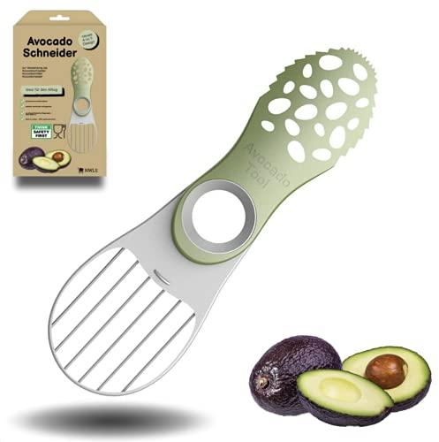 [NEUES DESIGN] 4-in-1 Avocadoschneider   Avocadoschneider   Avocadoschäler   Avocadomesser   Avocadoslicer   professionell und multifunktional   aus hochwertigem Polypropylen  