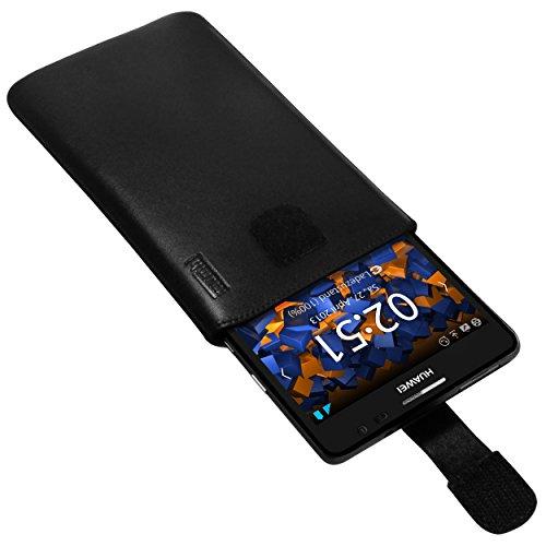 mumbi Echt Ledertasche kompatibel mit Huawei Ascend Mate Hülle Leder Tasche Case Wallet, schwarz - 4