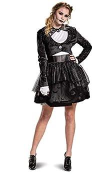 Disguise Women s Adult Jack Skellington Costume Dress Black Large  12-14