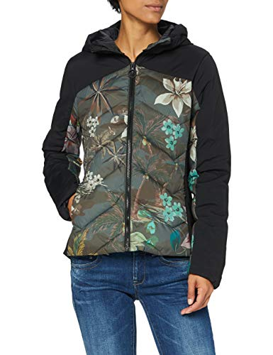 Desigual Womens Padded JACKERT CAMO F Jacket, Green, XL