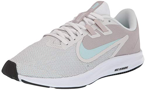 Nike Wmns Downshifter 9, Zapatillas de Atletismo para Mujer, Multicolor (Platinum Tint/Teal Tint/Moon Particle 000), 38 EU